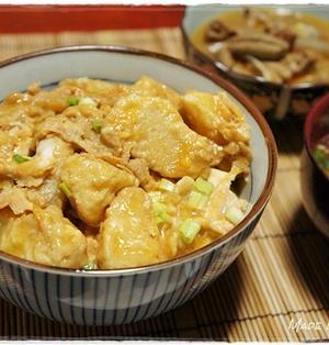 足利名物ポテト丼(芋天麩羅の卵とじ丼)を作りました