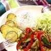 彩り野菜のバジル炒め