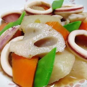 イカと根菜の柚子こしょう煮