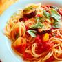 茄子とパプリカのトマトソースパスタ