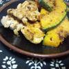 カボチャと鶏モモ肉のクミン焼き
