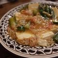 【recipe】豆腐と胡瓜のかにかまあん/ベランダと実山椒