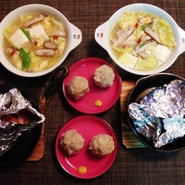 今夜もスキレット使っちゃう(笑)春キャベツと豆腐の中華あんかけスープ♪