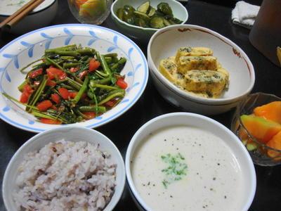 野菜メインの献立No.147 2011/7/25