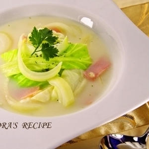 レンジで簡単!「春野菜たっぷりスープ」で1日をスタートしよう♪