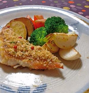 赤魚のパン粉焼き