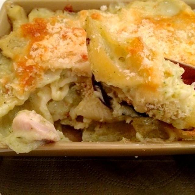 里芋とブロッコリーのソースでやさしいグラタン♪(レシピあり)
