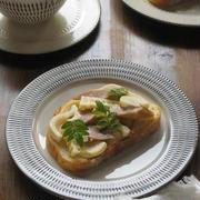 筍のタルティーヌと、野菜スープでランチ♪