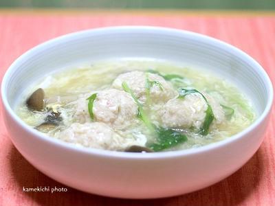 鶏むね団子の中華風あんかけスープ&「まるちゃんQTTA」食べてみました