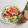 炒めベーコンとキノコのサラダ