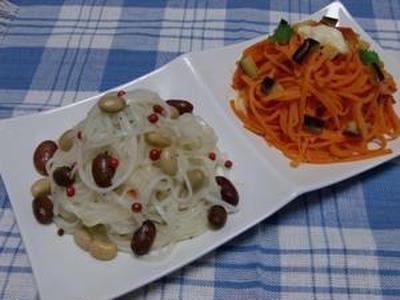 美味しくて食べる手が止まりません!!大根のスパゲッティ風&人参のスパゲッティ風