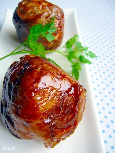 肉爆弾!!豚ポテトマト巻き