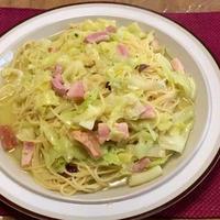 【塩らーめんパスタ】塩らーめんのスープで作るキャベツのパスタ