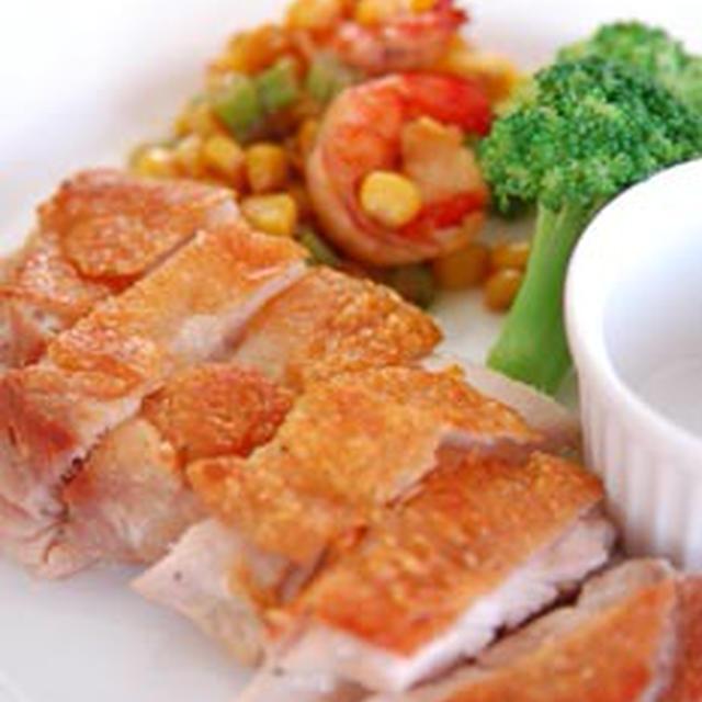 パリパリ鶏肉のソテー・柚子コショー