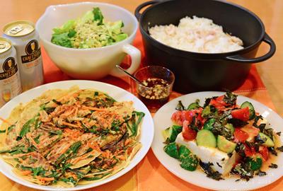 5月4日 水曜日 チヂミ&チキントマト鍋