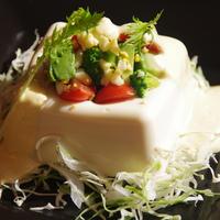 絹豆腐のミモザサラダ 豆腐チーズクリームで