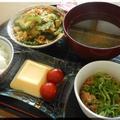 ゴーヤチャンプルと卵豆腐~夏の朝食