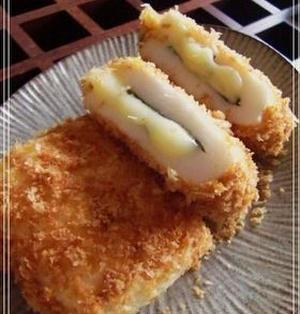 揚げないで♪☆チーズと大葉のはんぺんフライ