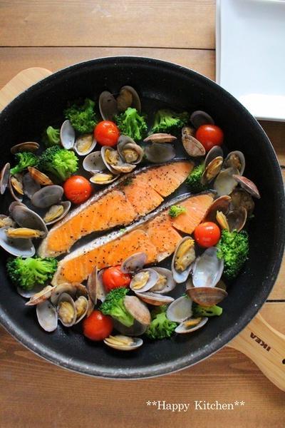 鮭のめちゃ旨洋風スープ蒸し*北陸にて。