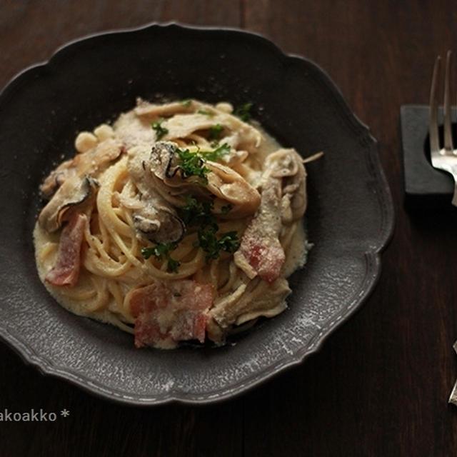 牡蠣のスパゲティ