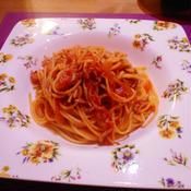 トマトとシラスのアーリオオーリオパスタ