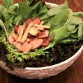 【ローズマリー調味料の活用レシピ】エリンギとクレソンのバター醤油サラダの作り方