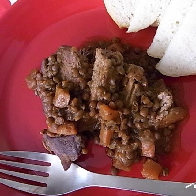 ラム肉とレンズ豆のシンプル煮込み