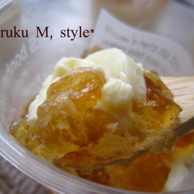 夏の夕暮れゼリー(梅&豆乳)