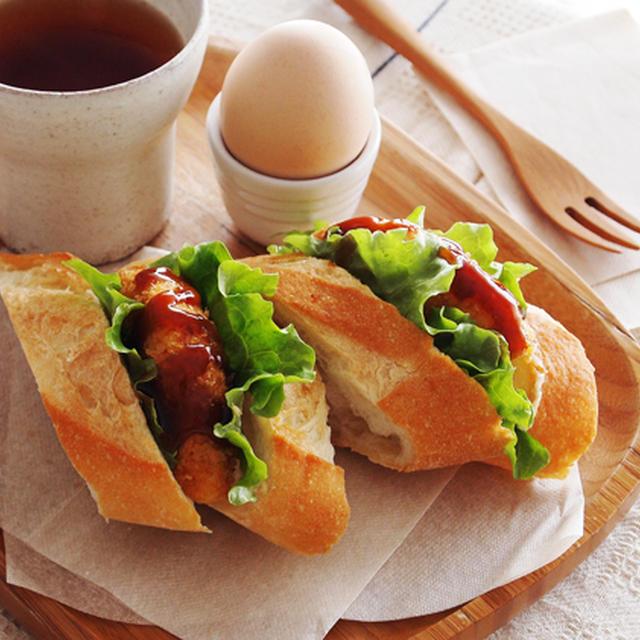 私の朝ごはん&タラモコロッケ・・お弁当♪