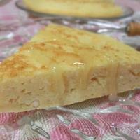 ハチミツがけが絶妙♪ フライパンで☆ おからパウダーとカッテージチーズのケ―クサレ