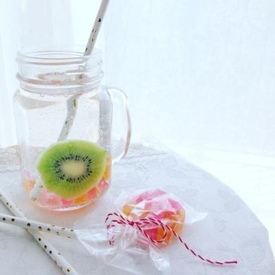 琥珀糖×フルーツビネガードリンク♪