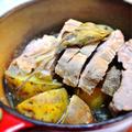豚肉とジャガイモのシンプル煮込み、セージ風味