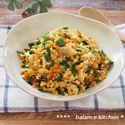 かんたん!豚キムチの煎り豆腐。ごはんが進む常備菜。