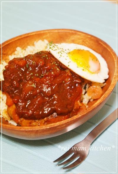 ♡ロコモコ丼✧*:・ナポリタン風焼きそば♡