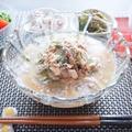 サバみそ煮缶で作る簡単冷や汁ごはんが夏でもさらさら食べられる( 一一)
