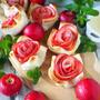 【食パンで作れる】簡単すぎるのに可愛いアップルローズパイ