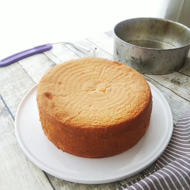 21cmのスポンジケーキ/ケーキレベラー
