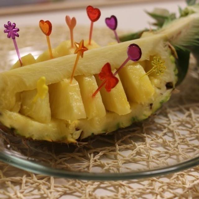 パイナップルの飾り切り カンタン編