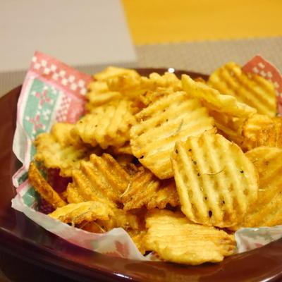 【うちレシピ】祝 くらしのアンテナ掲載 ★ ローズマリー風味のポテトチップス