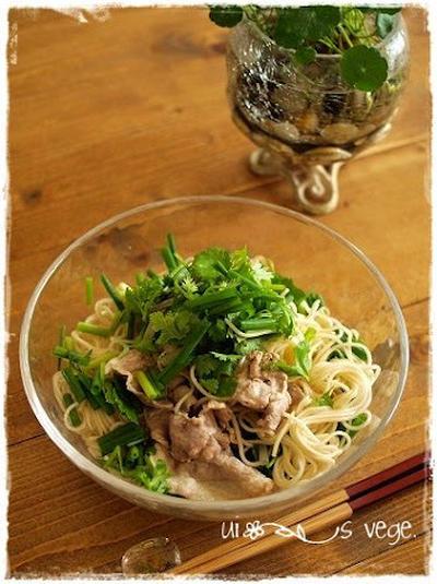 ☆パクチーたっぷりサッパリ素麺♪と早い夏休み!!