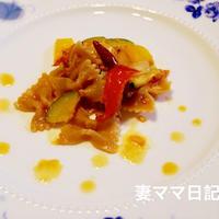 完熟トマトソースでファルファッレ♪ Farfalle with Tomato sauce