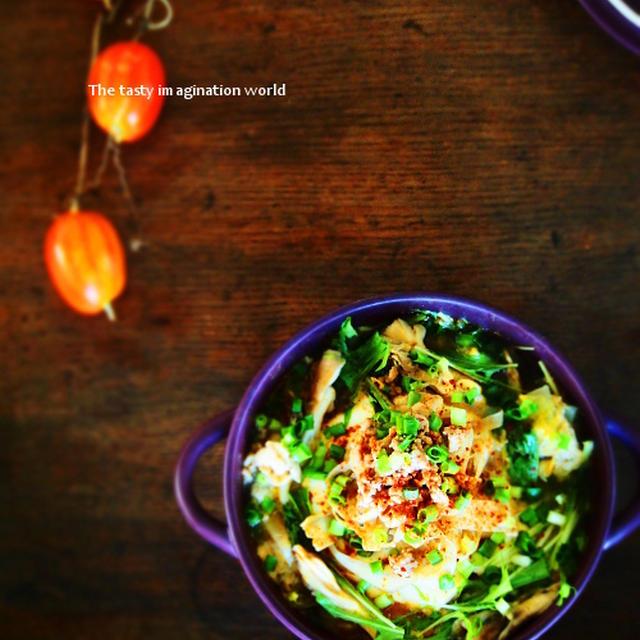 おぼろ豆腐とごぼう玉子の担々鍋・モランボンごま坦々味