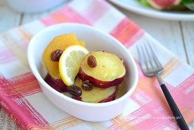【作りおきレシピ】さつま芋と柿のはちみつレモン