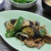 ナスと豚肉の花椒味噌炒め