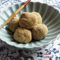 【レシピ】甘味料なしのマクロビきびだんご