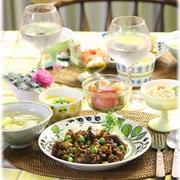 【レシピ】豆こぞう の キーマカレーと 献立。 と 青空とチームワーク・フットワーク。
