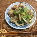 鶏肉とチンゲンサイとキノコの中華風