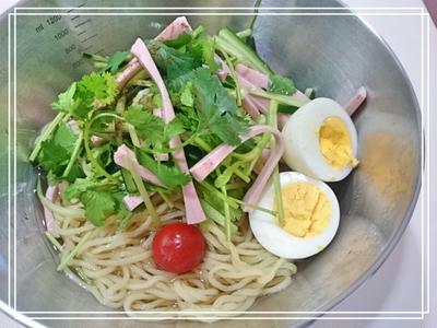 【スパイス大使♡花椒塩:冷やし中華で韓国冷麺スタイル】