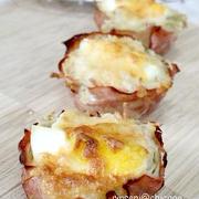 朝食お弁当おやつに・・ハムエッグポテトマフィン