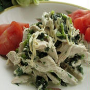 胸肉とほうれん草の減塩サラダ